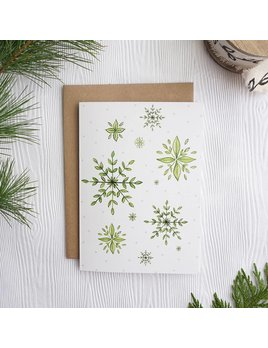 Joannie Houle Botanical Snow Flakes Card