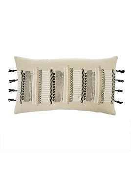 Indaba Coussin Franges & Boutons
