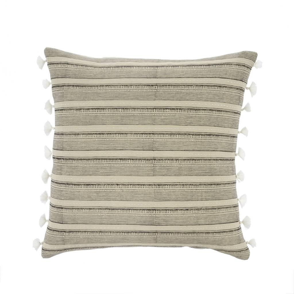 Indaba Tan Stripes Pillow