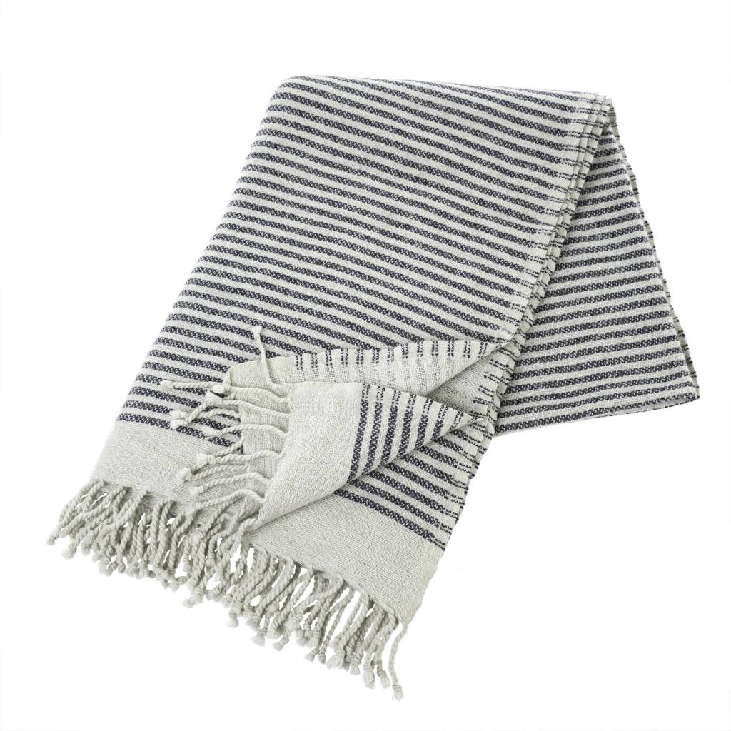 Indaba Tassels & Stripes Throw