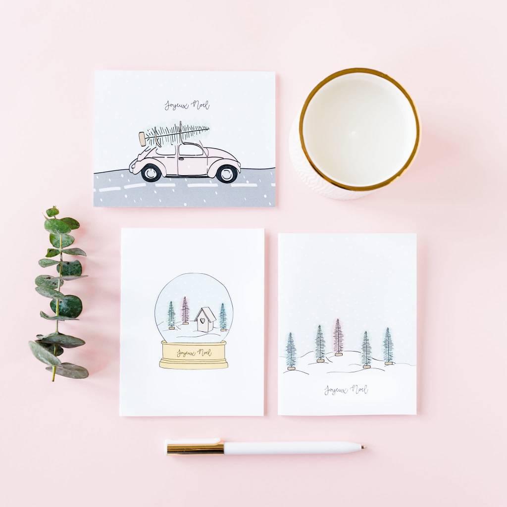 Fleur Maison Chrsitmas Car Greeting Card