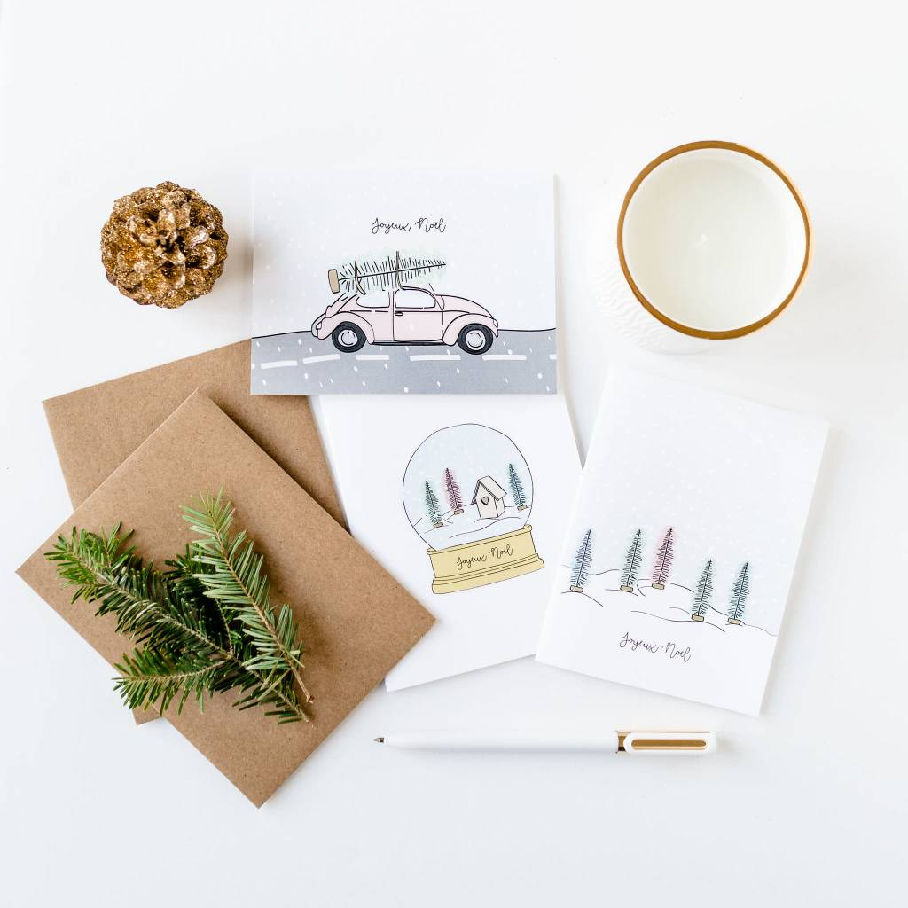 Fleur Maison Carte Auto De Noël