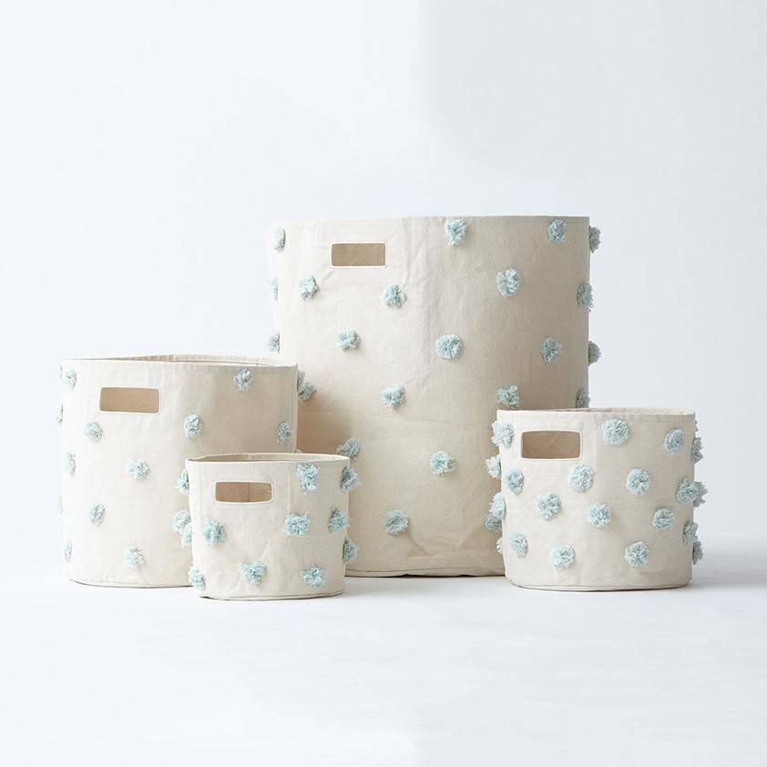 Pehr Design Mint Pom Pom Bin