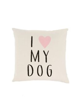 Indaba I Love My Dog Pillow