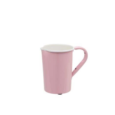 Indaba Small Enamel Pink Pitcher