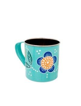 Indaba Blue Floral Mug