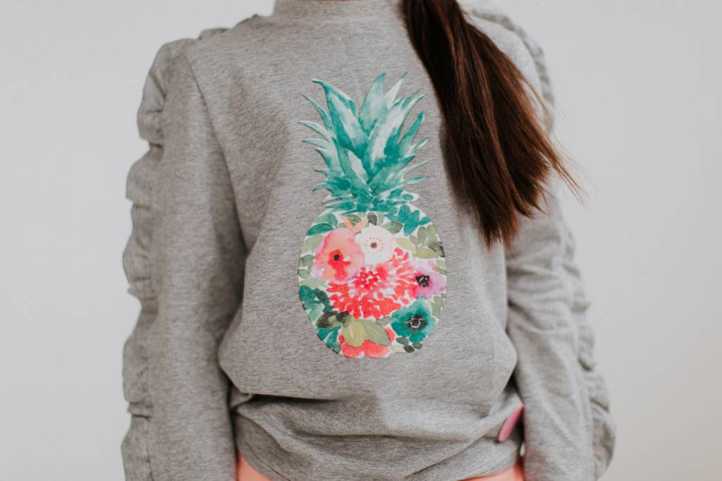 Birdz Grey Pineapple Sweater