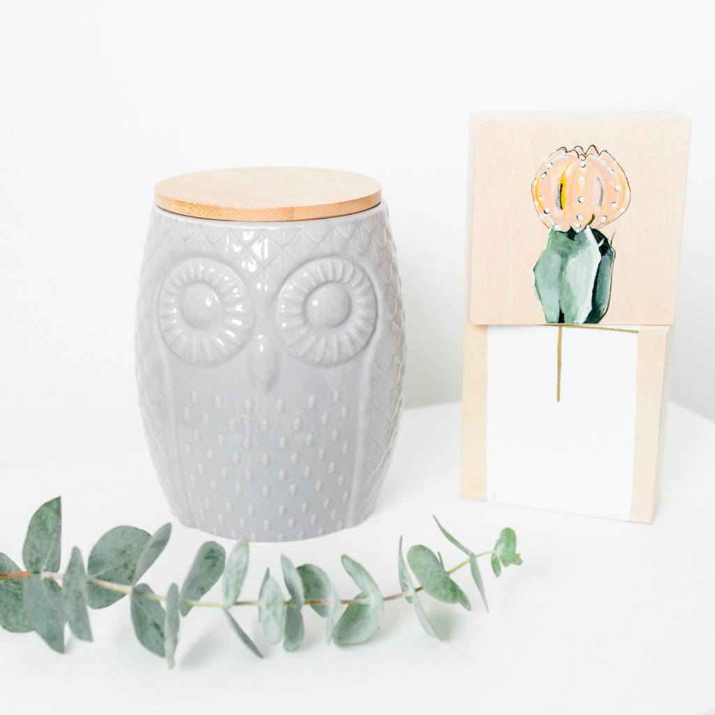 Danica/Now Owl Canister Large Gray