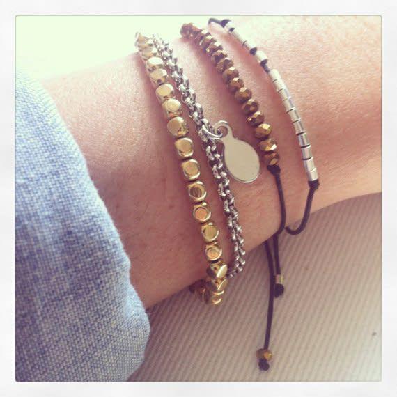 Si Simple Black Champagne Bracelet