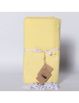 Famille Nomade Jacquard Weave Yellow Fouta