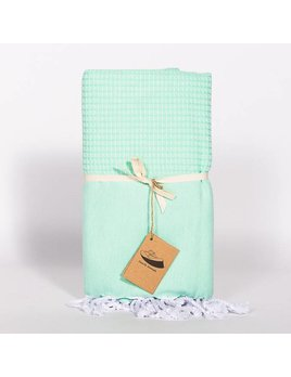 Famille Nomade Jacquard Weave Mint Fouta