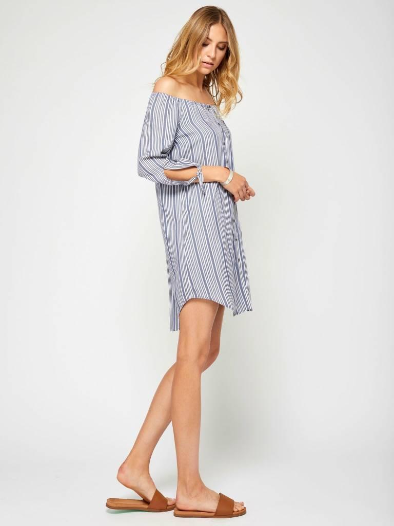 Gentle Fawn Blue Pinstripe Dress