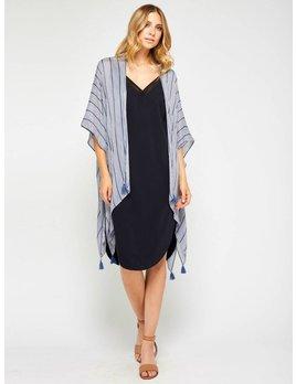 Gentle Fawn Blue Pinstripe Kimono