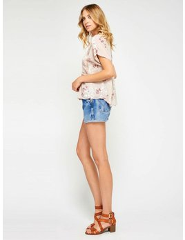 Gentle Fawn Flowers & Lace Pink Top