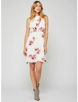 Gentle Fawn Red Flowers Dress
