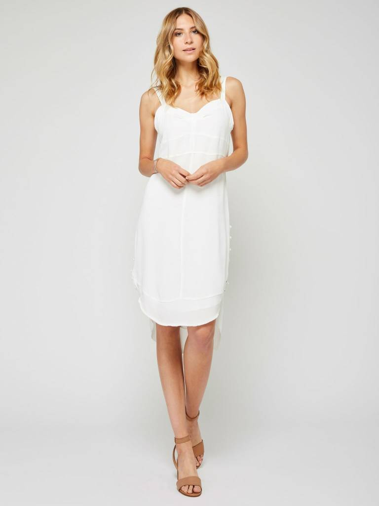 Gentle Fawn White Buttons Dress