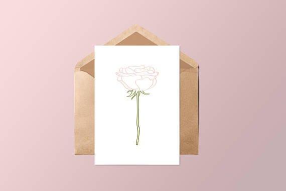 Fleur Maison La rosa Greeting Card