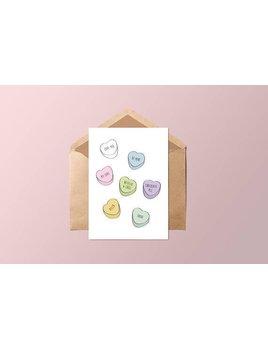 Fleur Maison Conversation Hearts Card