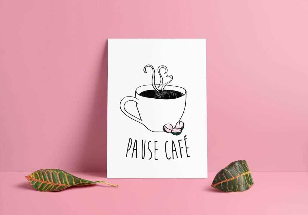 Fleur Maison Large Pause Café Poster