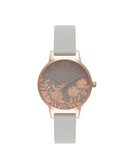 Olivia Burton Rose Gold Lace Detail Watch