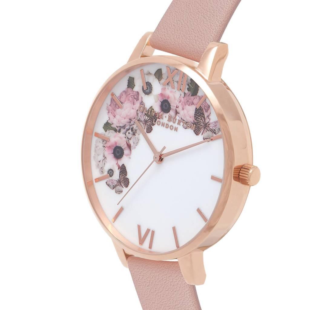 Olivia Burton Signature Floral Dusty Pink Watch