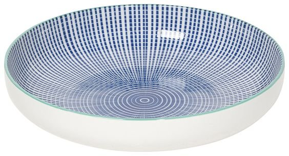 Danica/Now Blue Stamped Shallow Bowl