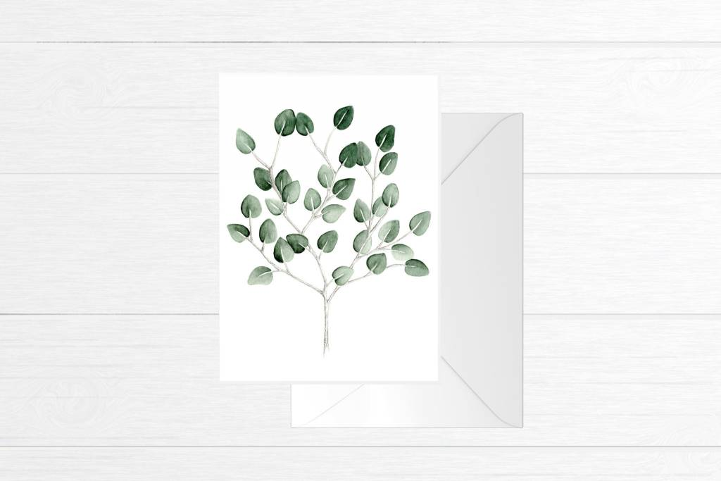Fla Fla Eucalyptus Bouquet Card