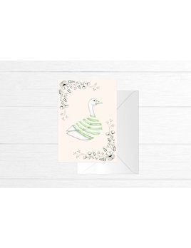Fla Fla Stripe Sweater Goose Card