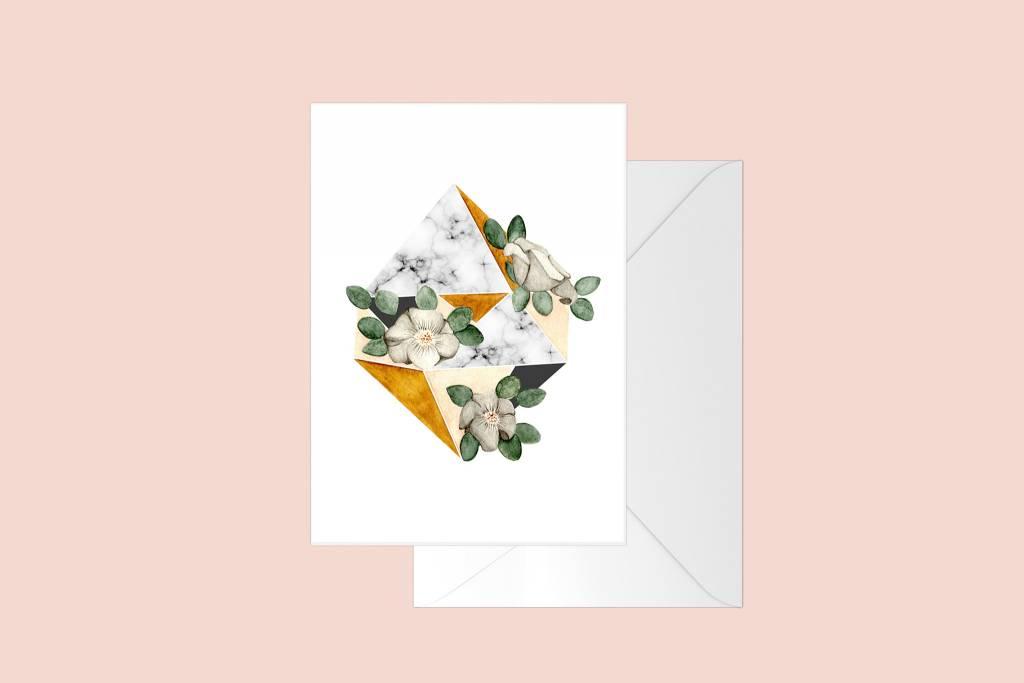 Fla Fla Geo Flower Card