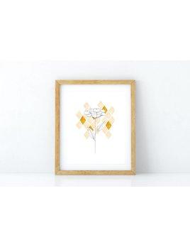Fla Fla Affiche Fleur Dimants