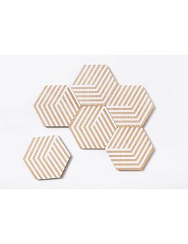 The Tate Group Sous-Verres Illusion Blancs
