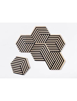 The Tate Group Black Illusion Coasters