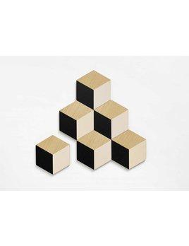 The Tate Group Sous-Verres Cubique Noirs