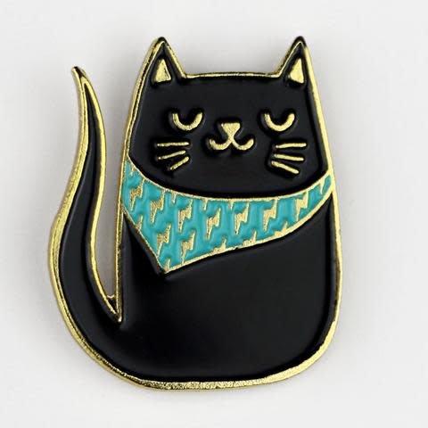 The Tate Group Bandana & Cat Pin