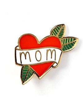 The Tate Group Mom Heart Pin