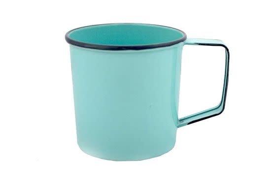Nostalgia Blue Metal Mug