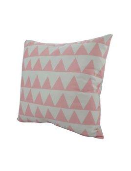Nostalgia Pink Triangles Pillow