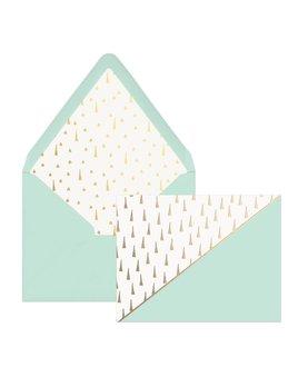 Designworks ink Cartes Menthe Triangles Or - Boîte de 12