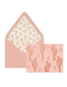 Designworks ink Pink Cactus Cards - Box of 12