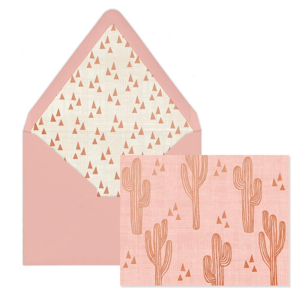 Designworks ink Pink Cactus Cards - Box of 12