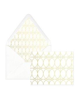Designworks ink Gold Circle Cards - Box of 12