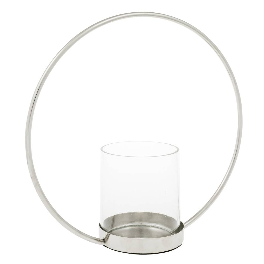Eightmood Silver Circle Candlestick