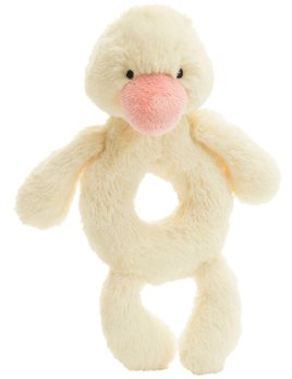 Jellycat Yellow Duck Ring Rattle