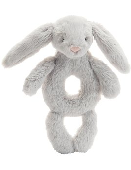 Jellycat Grey Bunny Ring Rattle