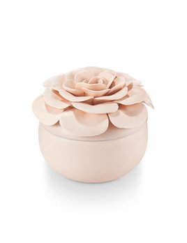 Pink Flower Candle