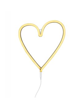 Little Lovely Lampe Néon Coeur Jaune