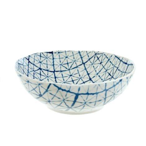 Indaba Large Light Shibori Bowl