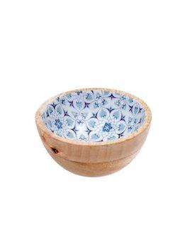 Indaba Wood and Enamel Bowl