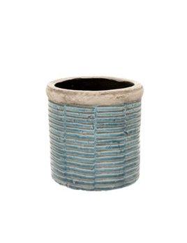 Indaba Blue Striped Pot
