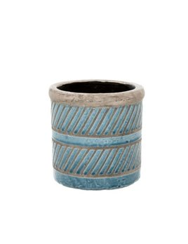 Indaba Blue Prairie Pot